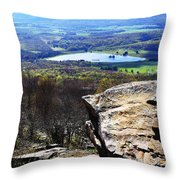 Canaan Valley From Valley View Trail Throw Pillow by Thomas R Fletcher
