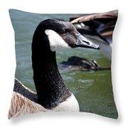 Canada Goose Profile Throw Pillow by Anita Oakley