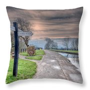 Canal Directions Throw Pillow by Adrian Evans