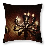 Candelabra Throw Pillow by Natasha Marco