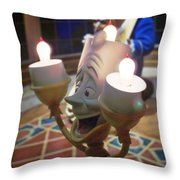 Candle Light Throw Pillow by Ryan Crane
