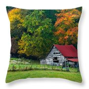 Candy Mountain Throw Pillow by Debra and Dave Vanderlaan