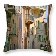 Cannes - Le Suquet - France Throw Pillow by Christine Till