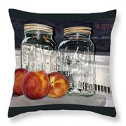 Canning Time Throw Pillow by Barbara Jewell