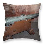 Cannon At San Francisco Fort Point 5d21503 Throw Pillow by Wingsdomain Art and Photography