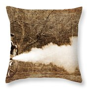 Cannon Fire Throw Pillow by Mark Miller