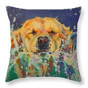Cannonball Throw Pillow by Kimberly Santini