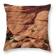 Canyon De Chelly - A Fascinating Geologic Story Throw Pillow by Christine Till