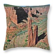 Canyon De Chelly - Spider Rock Throw Pillow by Christine Till