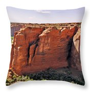 Canyon De Chelly - View From Sliding House Overlook Throw Pillow by Christine Till