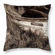 Cape Cod Skiff Throw Pillow by Luke Moore