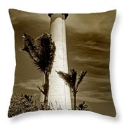 Cape Florida Lighthouse Throw Pillow by Skip Willits