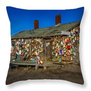 Cape Neddick Lobster Pound Throw Pillow by Susan Candelario