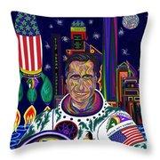 Captain Mitt Romney - American Dream Warrior Throw Pillow by Robert SORENSEN