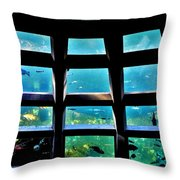 Captaining The Nautilus Throw Pillow by Benjamin Yeager