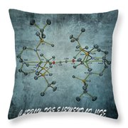 Carbon The Element Of Life Throw Pillow by Dan Sproul