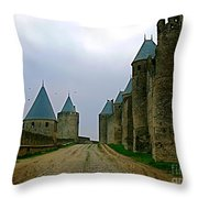 Carcassonne Walls Throw Pillow by FRANCE  ART