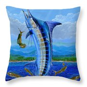 Caribbean Blue Off0041 Throw Pillow by Carey Chen