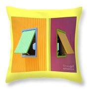 Caribbean Corner 3 Throw Pillow by Randall Weidner