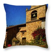 Carmel Mission Throw Pillow by Priscilla Burgers