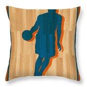 Carmelo Anthony New York Knicks Throw Pillow by Joe Hamilton