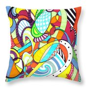 Carnival  Throw Pillow by Shawna Rowe