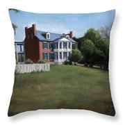 Carnton Plantation In Franklin Tennessee Throw Pillow by Janet King