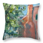 Carnton Plantation On A Spring Morning Throw Pillow by Susan E Jones