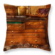 Carpentry - Tools - In My Younger Days  Throw Pillow by Mike Savad