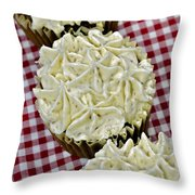 Carrot Cupcakes Throw Pillow by Susan Leggett