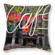 Carrot Top On Broadway Throw Pillow by Sarah Loft