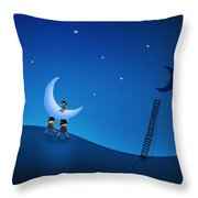 Carry The Moon Throw Pillow by Gianfranco Weiss