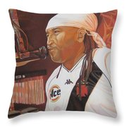 Carter Beauford at Red Rocks Throw Pillow by Joshua Morton