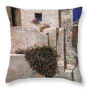 case a Santorini Throw Pillow by Guido Borelli