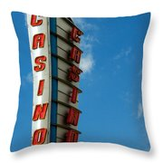 Casino Sign Throw Pillow by Norman Pogson
