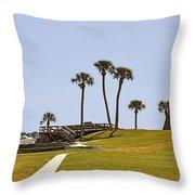 Castillo De San Marcos St Augustine Fl Throw Pillow by Christine Till
