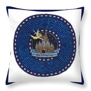 Castle Throw Pillow by Douglas K Limon