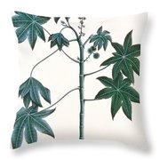 Castor Oil Plant Throw Pillow by Indian School