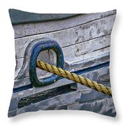 Cat Hole And Hawser Throw Pillow by Marty Saccone