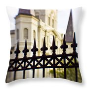 Cathedral Basilica Throw Pillow by Scott Pellegrin