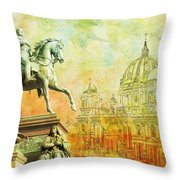 Cathedral De Berlin Throw Pillow by Catf