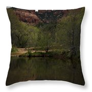 Cathedral Rock and Reflection Throw Pillow by Dave Gordon
