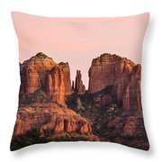 Cathedral Rock Sunset Throw Pillow by Mary Jo Allen