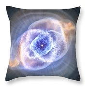 Cat's Eye Nebula Throw Pillow by Adam Romanowicz