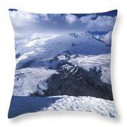 Caucasia Elbrus Throw Pillow by Unknown
