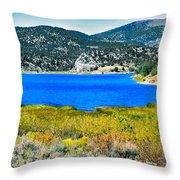 Cave Lake Throw Pillow by Robert Bales