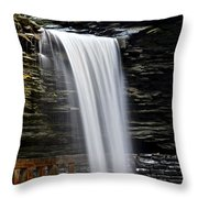Cavern Cascade Throw Pillow by Frozen in Time Fine Art Photography