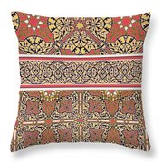 Ceiling Arabesques From The Mosque Of El-bordeyny Throw Pillow by Emile Prisse d Avennes