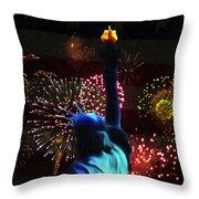 Celebrate America Throw Pillow by Simon Wolter