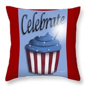 Celebrate The 4th / Blue Throw Pillow by Catherine Holman
